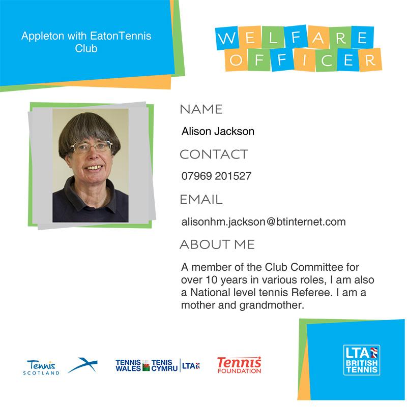 Alison Jackson - Welfare Officer
