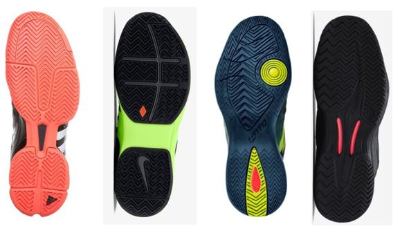 All tennis shoe types
