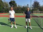 Men's Vets Singles Winner and Runner Up